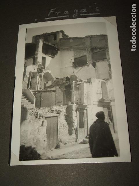 FRAGA HUESCA 5 FOTOGRAFIAS POR SARGENTO ALEMAN DE LA LEGION CONDOR GUERRA CIVIL (Militar - Fotografía Militar - Guerra Civil Española)