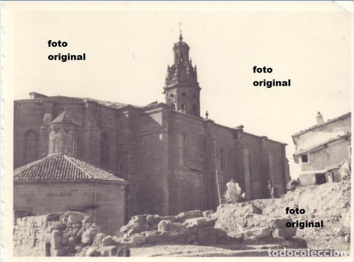 IGLESIA SANTO TOMAS HARO (LOGROÑO) 1938 CTV DIVISION LITTORIO GUERRA CIVIL (Militar - Fotografía Militar - Guerra Civil Española)