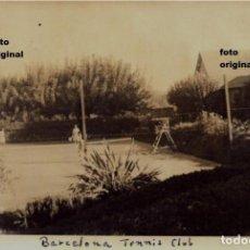 Militaria: REAL CLUB DE TENIS BARCELONA 1938 INTEGRANTES HMS PENELOPE INGLES GUERRA CIVIL. Lote 117475747