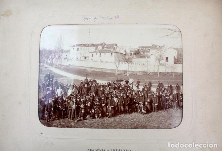 FG-330. ACADEMIA DE ARTILLERIA. SEGOVIA 1903. FOTOGRAFIA DE GRUPO DE MILITARES. (Militar - Fotografía Militar - Otros)