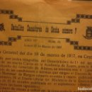 Militaria: ORDEN DEL GENERALISIMO FRANCO GUERRA CIVIL BATALLON CAZADORES CEUTA 1937 DEFENSA FALANGE BURGOS. Lote 117652139