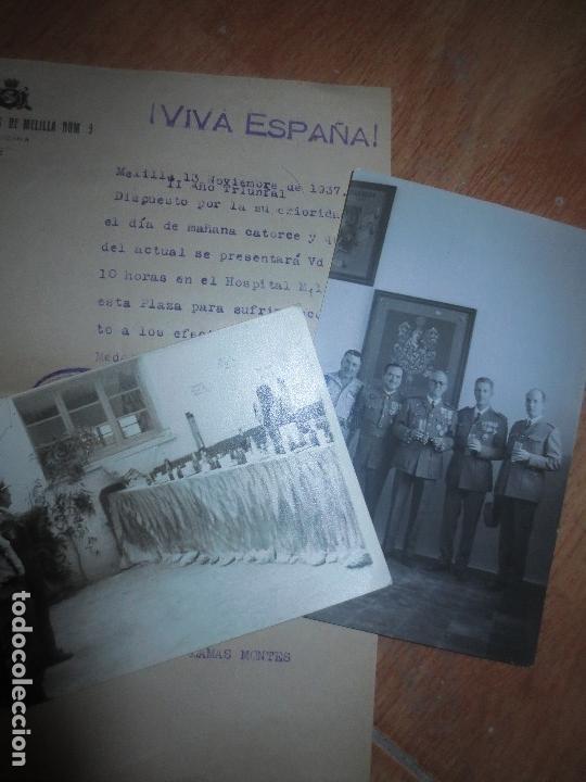Militaria: ORDEN DEL GENERALISIMO FRANCO GUERRA CIVIL BATALLON CAZADORES CEUTA 1937 DEFENSA FALANGE BURGOS - Foto 5 - 117652139