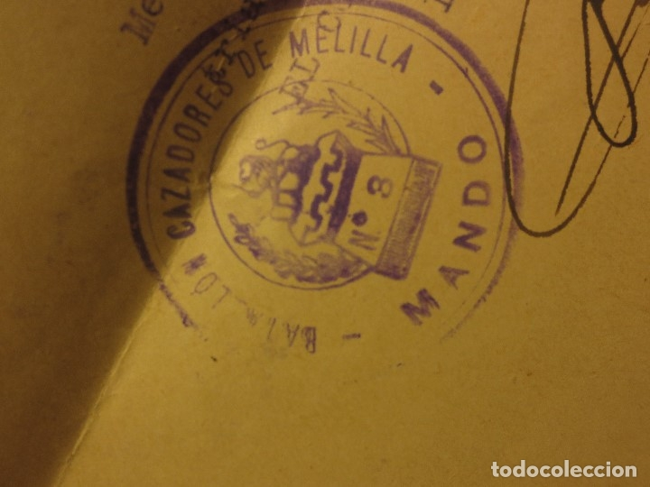 Militaria: ORDEN DEL GENERALISIMO FRANCO GUERRA CIVIL BATALLON CAZADORES CEUTA 1937 DEFENSA FALANGE BURGOS - Foto 7 - 117652139