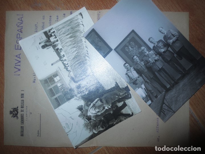 Militaria: ORDEN DEL GENERALISIMO FRANCO GUERRA CIVIL BATALLON CAZADORES CEUTA 1937 DEFENSA FALANGE BURGOS - Foto 12 - 117652139
