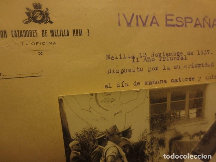 Militaria: ORDEN DEL GENERALISIMO FRANCO GUERRA CIVIL BATALLON CAZADORES CEUTA 1937 DEFENSA FALANGE BURGOS - Foto 10 - 117652139