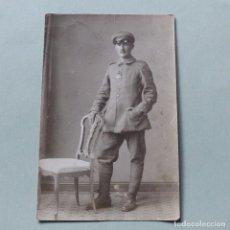 Militaria: FOTOGRAFIA / POSTAL DE LA PRIMERA GUERRA MUNDIAL. SOLDADO CON CRUZ DE HIERRO. ALEMANIA 1914 - 1918. Lote 117680235