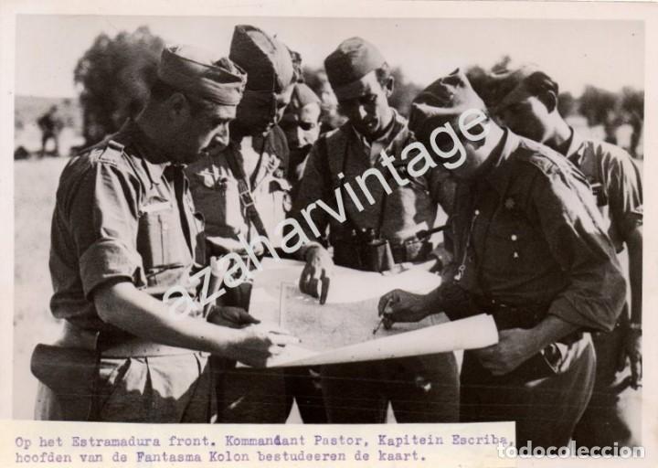 GUERRA CIVIL, FRENTE DE EXTREMADURA, MANDOS REPUBLICANOS DE LA COLUMNA FANTASMA, RARISIMA,18X13 CMS (Militar - Fotografía Militar - Guerra Civil Española)