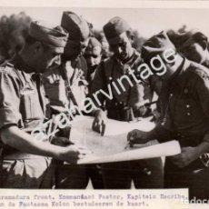 Militaria: GUERRA CIVIL, FRENTE DE EXTREMADURA, MANDOS REPUBLICANOS DE LA COLUMNA FANTASMA, RARISIMA,18X13 CMS. Lote 117934811