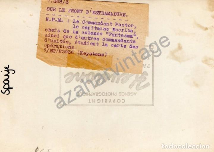 Militaria: GUERRA CIVIL, FRENTE DE EXTREMADURA, MANDOS REPUBLICANOS DE LA COLUMNA FANTASMA, RARISIMA,18X13 CMS - Foto 2 - 117934811