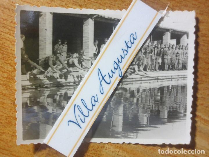 RARA FOTO PISCINA SOLDADOS CONTA DEPORTISTAS TERCIO POST GUERRA CIVIL MELILLA CIRCA 1939 MES VI (Militar - Fotografía Militar - Guerra Civil Española)