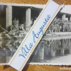 Militaria: RARA FOTO PISCINA SOLDADOS CONTA DEPORTISTAS TERCIO POST GUERRA CIVIL MELILLA CIRCA 1939 MES VI. Lote 117961275