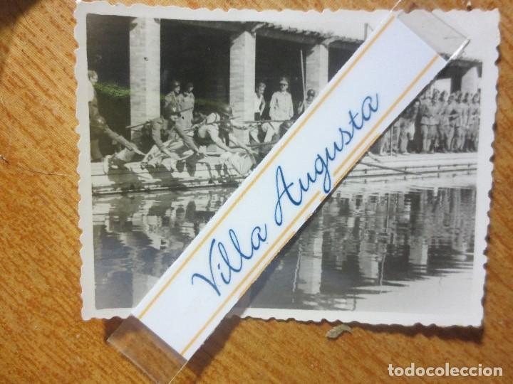 Militaria: RARA FOTO PISCINA SOLDADOS CONTA DEPORTISTAS TERCIO POST GUERRA CIVIL MELILLA CIRCA 1939 MES VI - Foto 2 - 117961275