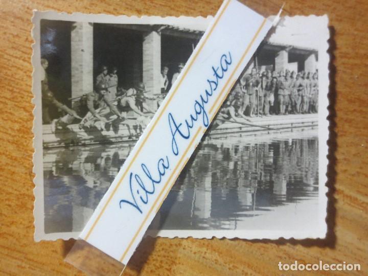 Militaria: RARA FOTO PISCINA SOLDADOS CONTA DEPORTISTAS TERCIO POST GUERRA CIVIL MELILLA CIRCA 1939 MES VI - Foto 3 - 117961275
