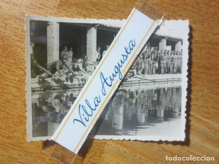 Militaria: RARA FOTO PISCINA SOLDADOS CONTA DEPORTISTAS TERCIO POST GUERRA CIVIL MELILLA CIRCA 1939 MES VI - Foto 4 - 117961275