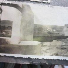 Militaria: CAMPAMENTO DE TINGSA SOLDADO O PAISANO SACANDO AGUA 1940 FOTO ORIGINAL. Lote 118102419