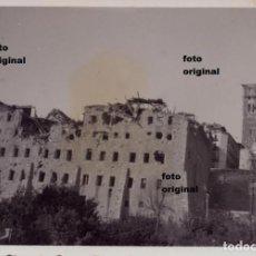 Militaria: TERUEL EN RUINAS AÑO 1938 SEMINARIO Y TORRE CTV DIVISION LITTORIO GUERRA CIVIL. Lote 118492235