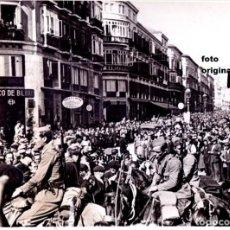 Militaria: ENTRADA TROPAS DE FRANCO MALAGA CAPITAL FEBRERO 1937 GUERRA CIVIL. Lote 118781895