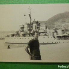 Militaria: FOTOGRAFÍA - FOTO - BLANCO-NEGRO - B/N - 7,5 CM. X 10,5 CM. - BARCO - FRAGATA O DESTRUCTOR -. Lote 118848259