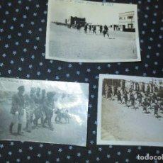 Militaria: PROTECTORADO DESFILES LEGION OFICIALES FRANCESES IFNI 19-V - 1939 FOTO ORIGINAL GUERRA CIVIL ESPAÑA. Lote 118858227