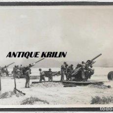 Militaria: FOTOGRAFIA REGIMIENTO ARTILLERIA ANTIAEREA Nº 72 BARCELONA .- FOTO DE MANIOBRAS .- FOTOCAÑ. Lote 118881415