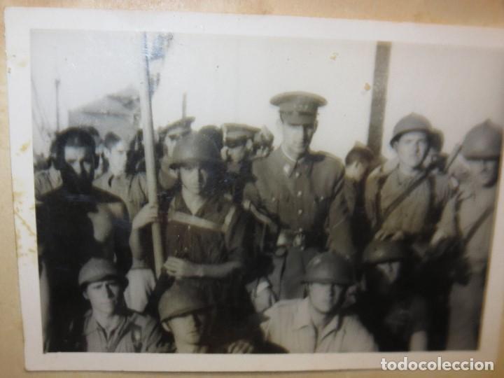 Militaria: DESEMBARCO DE BARCO SOLDADOS FOTO GUERRA CIVIL LEGION ESPAÑOLA - Foto 4 - 118927283