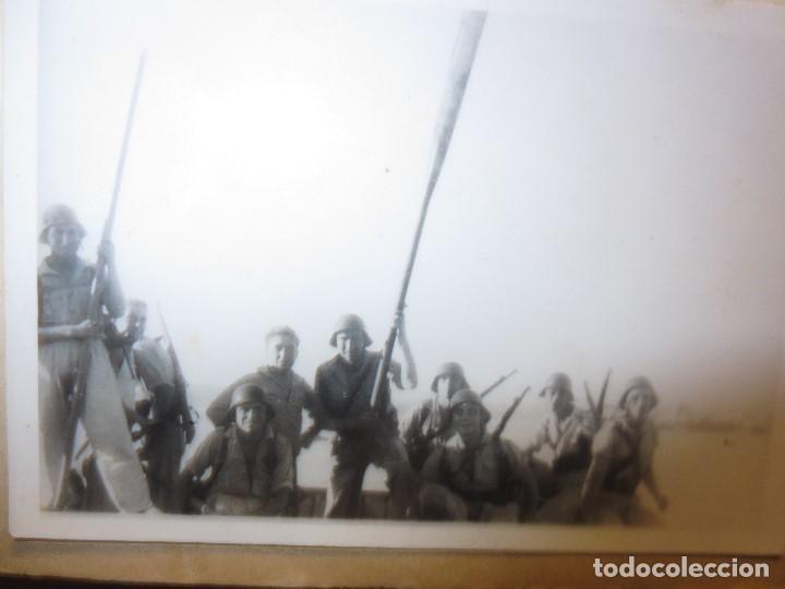 Militaria: DESEMBARCO DE BARCO SOLDADOS FOTO GUERRA CIVIL LEGION ESPAÑOLA - Foto 5 - 118927283