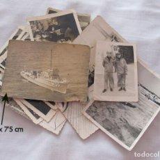 Militaria: LOTE DE FOTOS ARMADA ESPAÑOLA MARINA CAZAMINAS TAJO UNIFORME GRIS. Lote 119110391