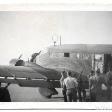 Militaria: 1938 CA LEGION CONDOR GUERRA CIVIL 4 FOTOS ORIGINALES ÚNICAS. AVION JUNKER 52 EN VUELO. Lote 119461439