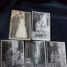 Militaria: LOTE FOTOS MILITARES Y CURA AÑOS 40. Lote 119469368