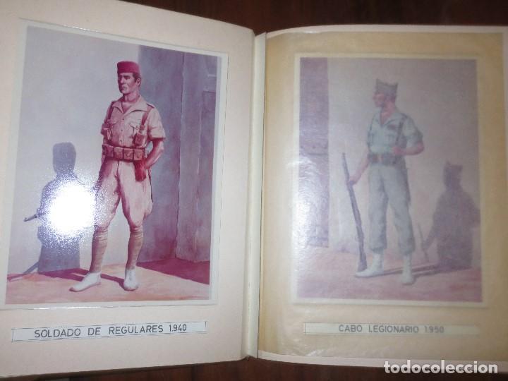 ANTIGUO ALBUM FOTOS ORIGINALES DE CUADROS INEDITO EVOLUCION INFANTERIA ESPAÑOLA LEGION MELILLA (Militar - Fotografía Militar - Otros)