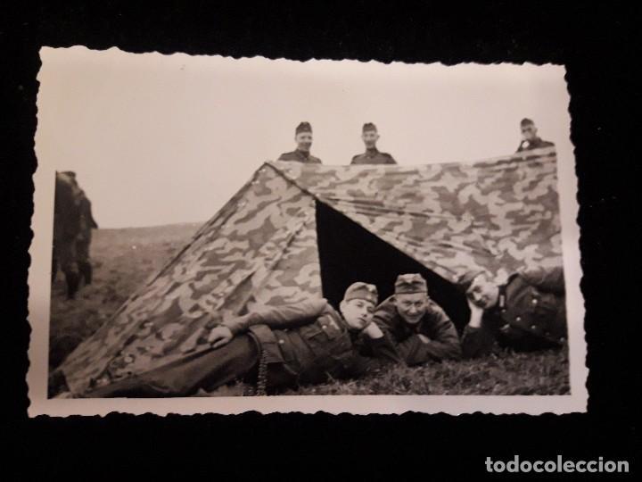 FOTOGRAFIA SOLDADOS EN TIENDA DE CAMPAÑA (Militar - Fotografía Militar - II Guerra Mundial)