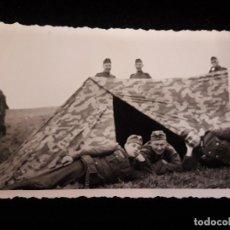 Militaria: FOTOGRAFIA SOLDADOS EN TIENDA DE CAMPAÑA. Lote 120045731