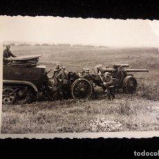 Militaria: FOTOGRAFIA SOLDADOS EN CAMION Y CAÑON. Lote 120058615