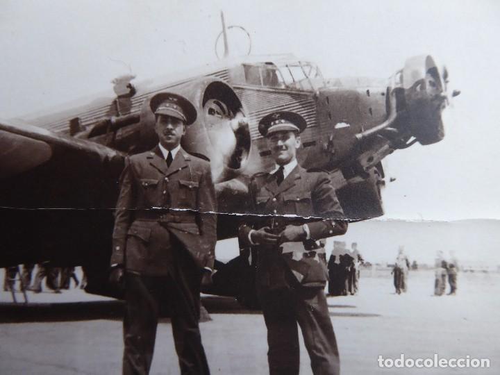 FOTOGRAFÍA TENIENTE AVIACIÓN. ACADEMIA GENERAL DEL AIRE SAN JAVIER 1941 JUNKERS 52 (Militar - Fotografía Militar - Otros)