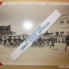 Militaria: DESFILE FIESTA DE LA VICTORIA 2º BATALLON CABO JUBY GUERRA CIVIL ESPAÑA IV - 1940. Lote 120456087
