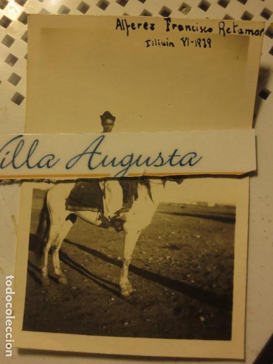 Militaria: OFICIAL ALFEREZ RETAMAR A CABALLO 1939 COMBATIENTE GUERRA CIVIL REGULARES - Foto 2 - 120581551