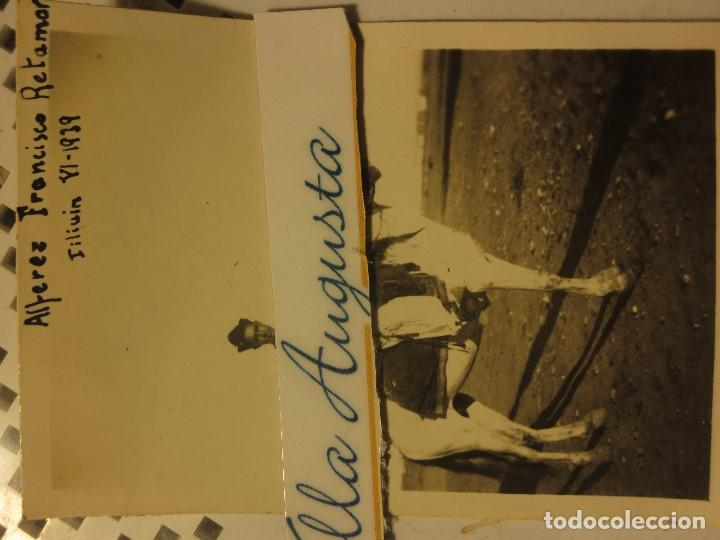 Militaria: OFICIAL ALFEREZ RETAMAR A CABALLO 1939 COMBATIENTE GUERRA CIVIL REGULARES - Foto 3 - 120581551