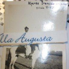 Militaria: OFICIAL ALFEREZ RETAMAR A CABALLO 1939 COMBATIENTE GUERRA CIVIL REGULARES. Lote 120581551