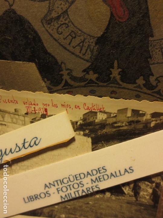 Militaria: PUENTE VOLADO CASTELLET XII-I-1939 AVANCE SOBRE RIO CATALUÑA GUERRA CIVIL FOTO INEDITA ORIGINAL - Foto 2 - 119788643