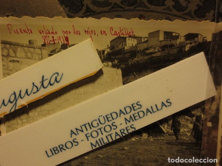 Militaria: PUENTE VOLADO CASTELLET XII-I-1939 AVANCE SOBRE RIO CATALUÑA GUERRA CIVIL FOTO INEDITA ORIGINAL - Foto 3 - 119788643