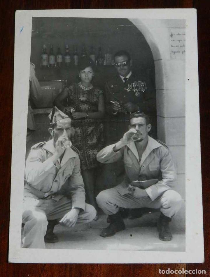FOTOGRAFIA DE CUARTEL DE LEGIONARIOS, LEGION, POSIBLEMENTE EN EL SAHARA ESPAÑOL, AÑOS 40, MIDE 11 (Militar - Fotografía Militar - Otros)