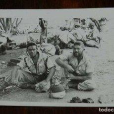 Militaria: FOTOGRAFIA DE CUARTEL DE LEGIONARIOS, LEGION, POSIBLEMENTE EN EL SAHARA ESPAÑOL, AÑOS 40, FOTO MAR. Lote 121360531