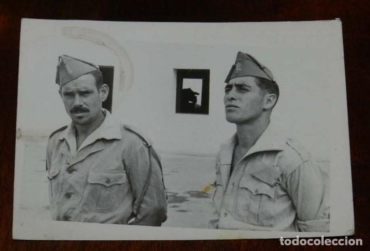 FOTOGRAFIA DE CUARTEL DE LEGIONARIOS, LEGION, POSIBLEMENTE EN EL SAHARA ESPAÑOL, AÑOS 40, FOTO MAR (Militar - Fotografía Militar - Otros)