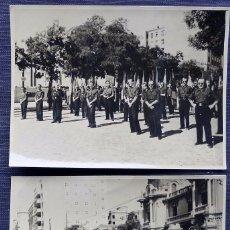 Militaria: 2 ANTIGUAS FOTOGRÁFIAS DE FALANGISTAS. DESFILE CELEBRACIÓN Y RENDICIÓN TOMA DE MADRID. GUERRA CIVIL.. Lote 121384027
