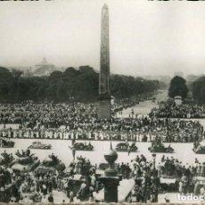 Militaria: LIBERACIÓN DE PARÍS-AÑO-1944-DESFILE DE F.F.I.-PLZA DE LA CONCORDE--FOTOGRÁFICA RARA. Lote 122241403