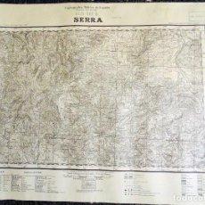 Militaria: MAPA TOPOGRÁFICO MILITAR DE LA GUERRA CIVIL - SERRA - AÑO 1938 70X55 CM. Lote 122310947