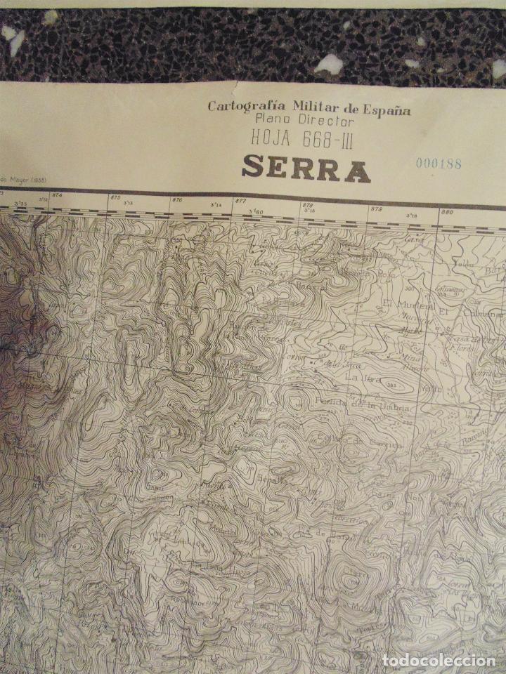 Militaria: MAPA TOPOGRÁFICO MILITAR DE LA GUERRA CIVIL - SERRA - AÑO 1938 70x55 cm - Foto 2 - 122310947