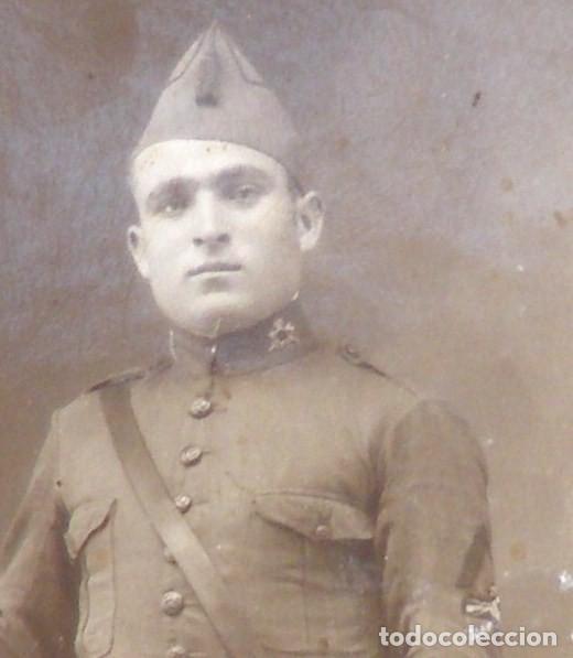Militaria: Fotografía de un soldado de infantería, alfonso xii o alfonso xiii - Foto 2 - 122567111