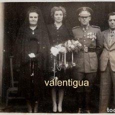 Militaria: IMPRESIONANTE FOTO MILITAR FRANQUISTA MEDALLA CRUZ GUERRA CUERPO INGENIEROS EJERCITO ESPAÑOL 40S CM. Lote 122687439