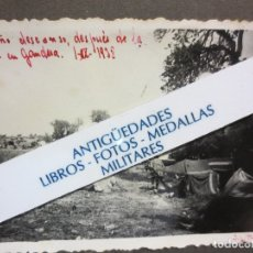 Militaria: DESCANSO DESPUES DE ACCION CAMPAMENTO BATALLA CATALUÑA EN GANDESA GUERRA CIVIL ESPAÑOLA 1-IX-1938. Lote 122841707